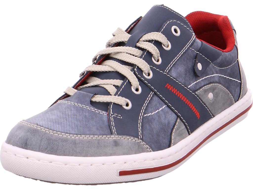 Details zu Rieker Herren Schnürschuh Halbschuh sportlich Sneaker blau