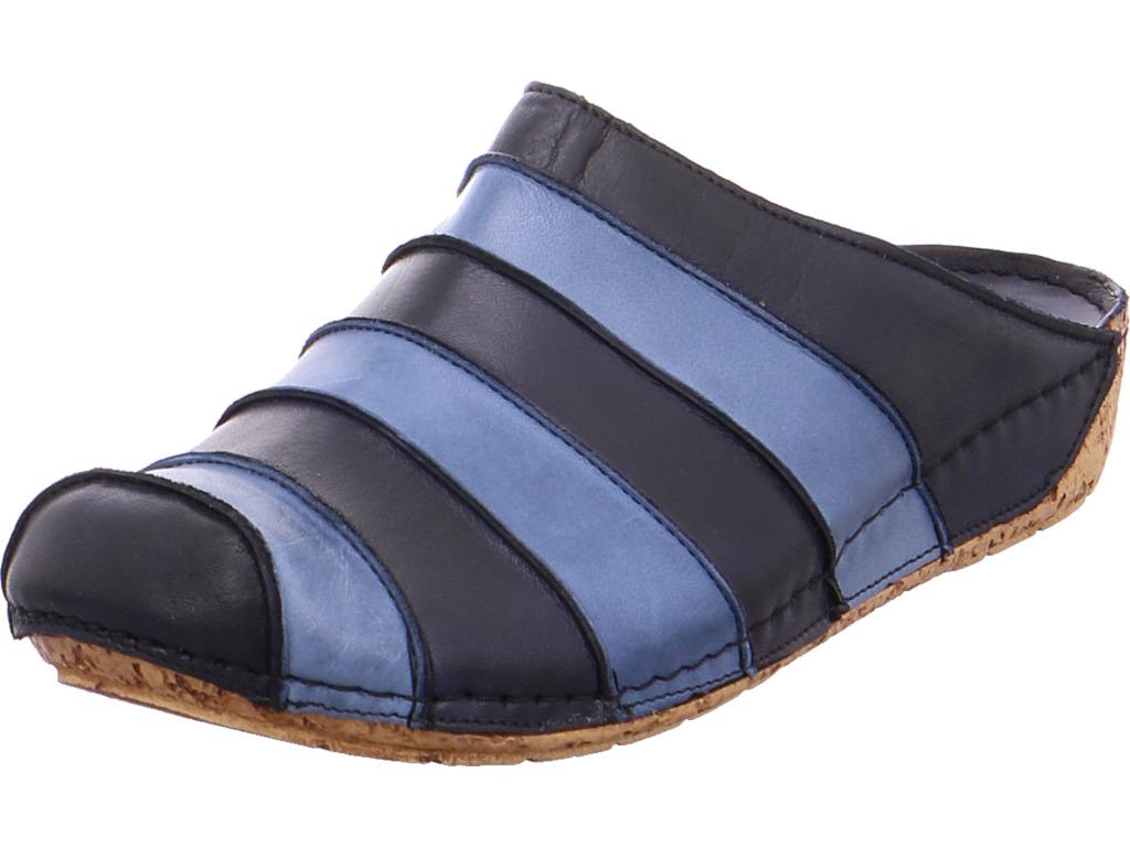 hush puppies damen nv pantolette sandalen hausschuhe blau ebay. Black Bedroom Furniture Sets. Home Design Ideas