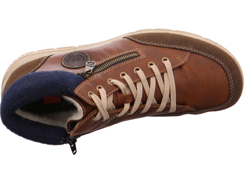 Details zu Rieker Herren Stiefel Schnürstiefel warm sportlich Boots braun