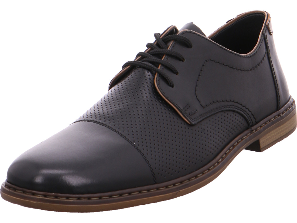 Rieker señores semi zapato negro