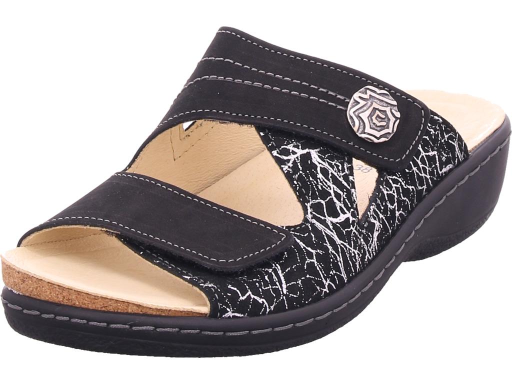 belvida Damen  Pantolette Sandale Hausschuhe schwarz