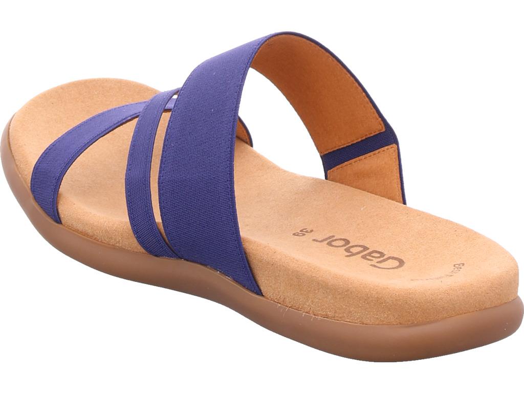 Blue Slipper femmes Aux Slippers Gabor Sandals HEXnx