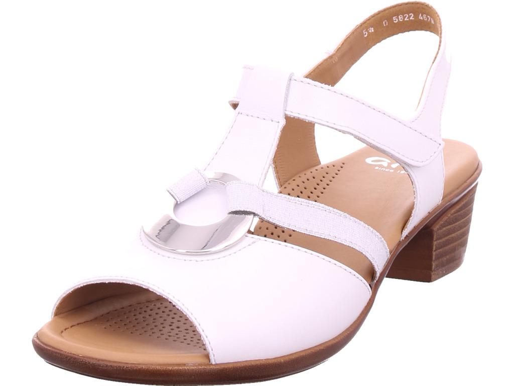 the best attitude 6fa34 bf0c8 Details zu ara Damen LUGANO Sandale Sandalette Sommerschuhe weiß